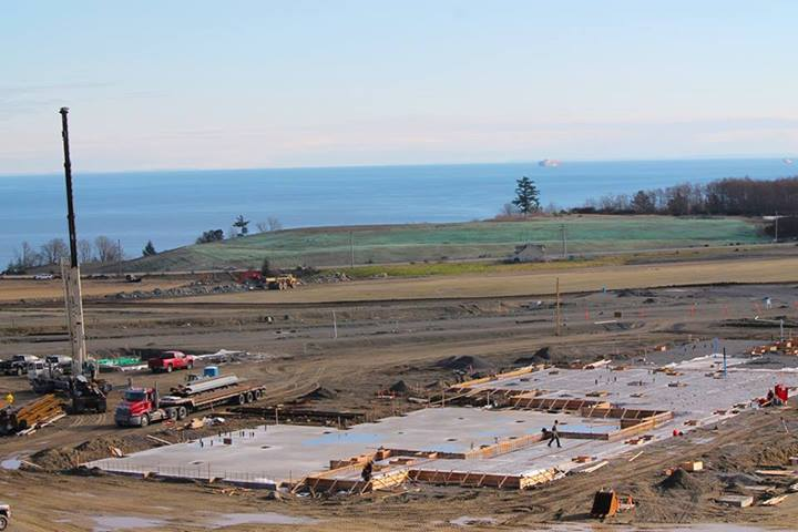 First pour complete at Royal Bay Secondary